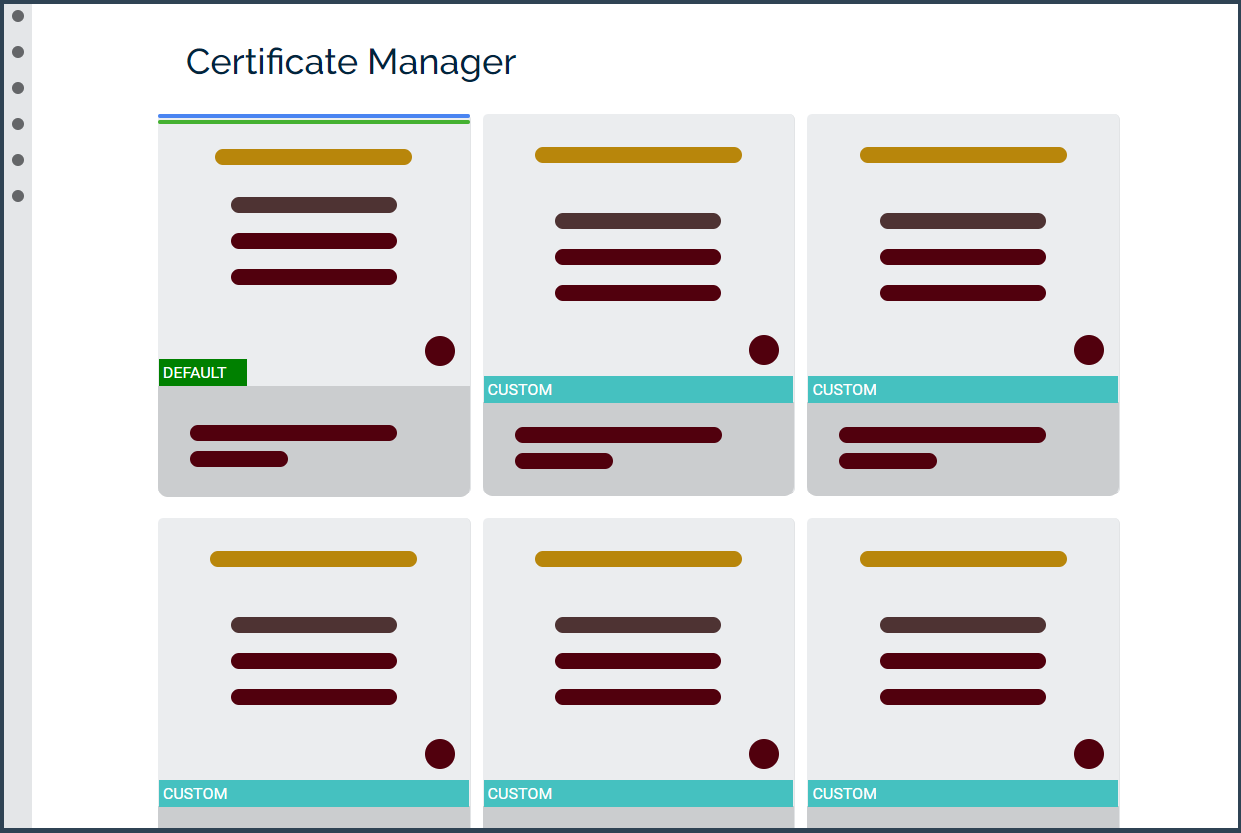 Certificate manager